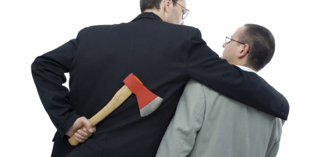 Business is not always fair play - ruthless business competition concept - isolated